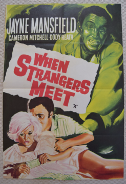 When Strangers Meet, Double Crown Poster, Incredible Jayne Mansfield image, '64